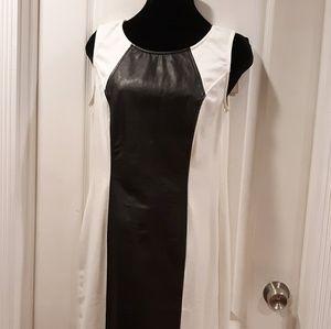 Women's black and white dress Eci